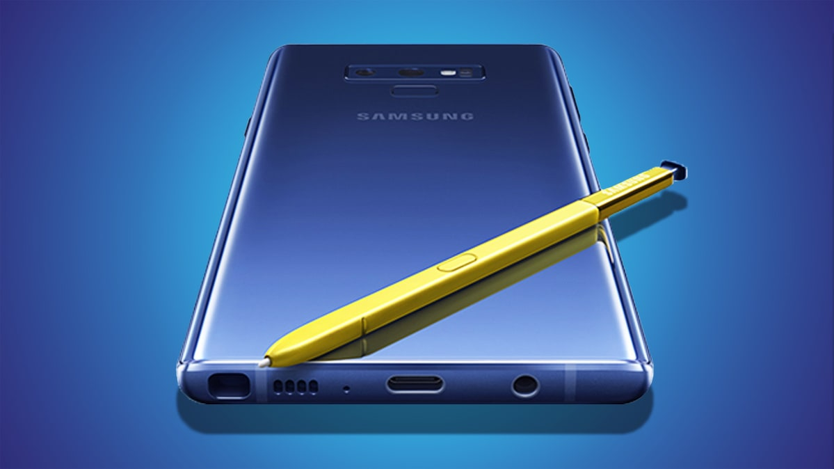 Samsung Galaxy Note9 with S Pen stylus