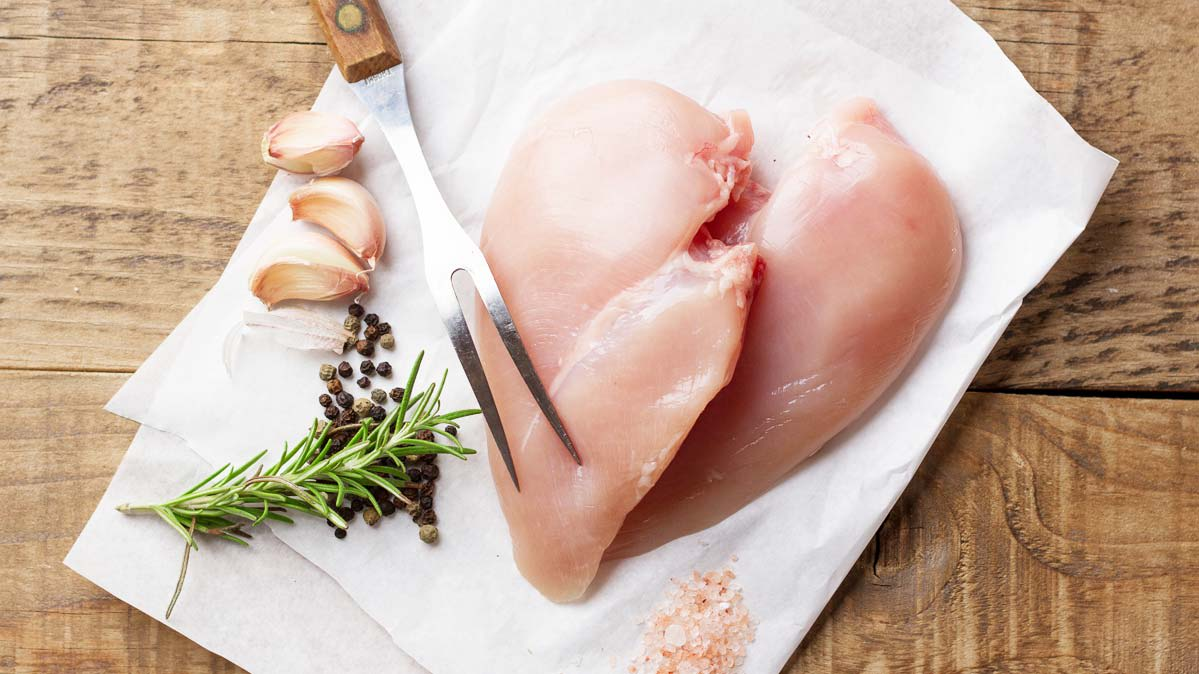 A salmonella outbreak has been linked to kosher chicken. Pictured: chicken