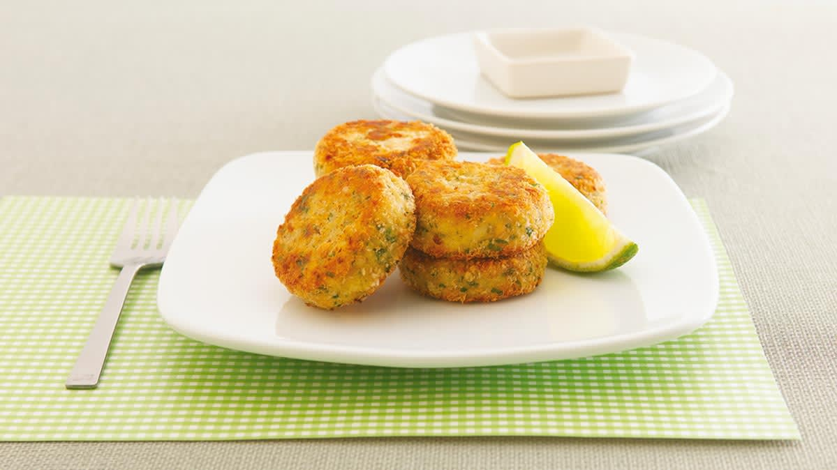 Salmon croquettes are an easy appetizer recipe.