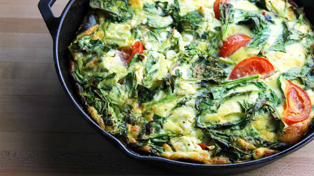 Anti-inflammatory diet: a frittata in a pan.