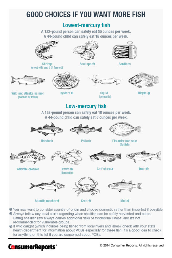 A Few Fish Such As Clams And Anchovies Ear To Be Low In Mercury But Didn T Make Our Lists Because The Fda Tested So Samples