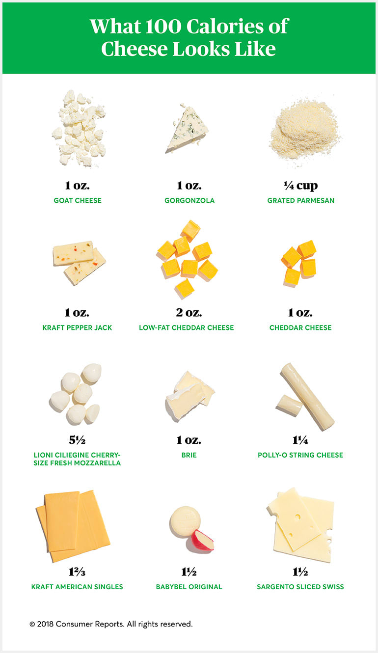 How many calories are in the cheese