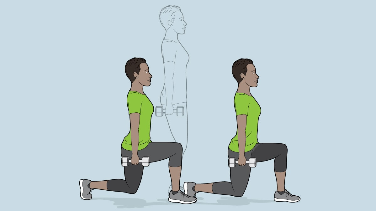 Lunge exercise for a binge-watch workout