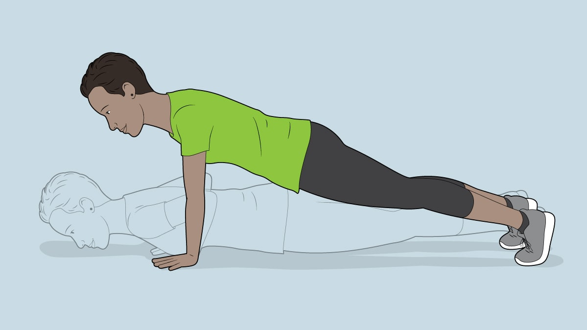 Pushup exercise for a binge-watch workout
