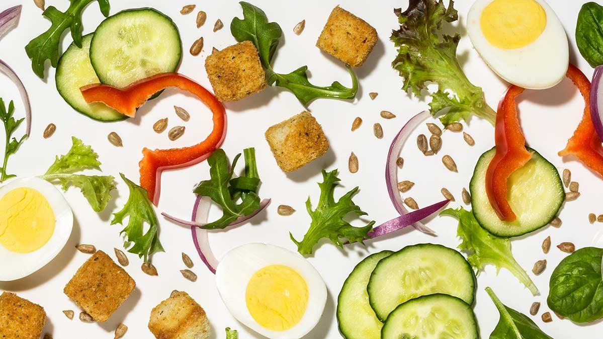 What 100 Calories of Salad Ingredients Looks Like