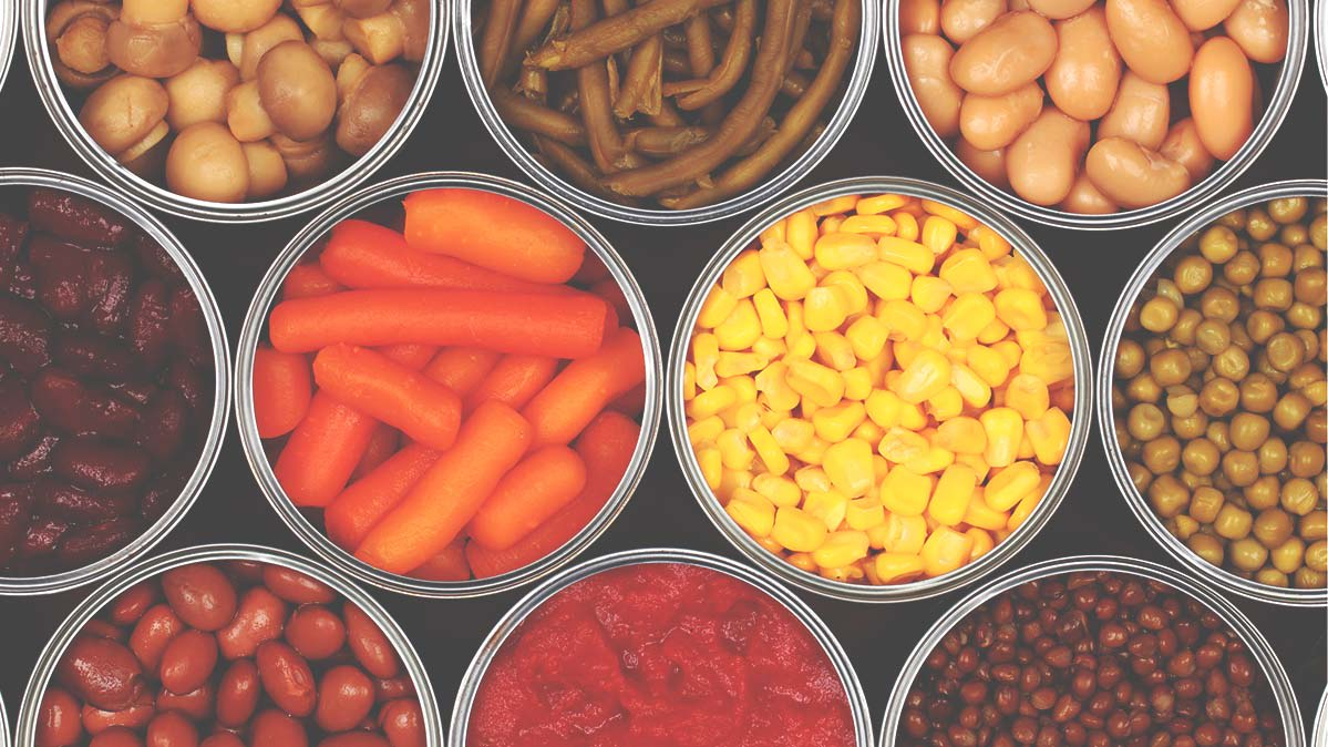 Canned corn, carrots, and dried beans are good foods to feed your family during a storm.
