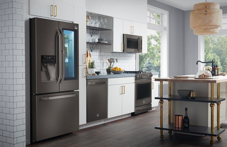 Kitchen Design Ideas With Black Stainless Applainces ~ The appeal of black stainless steel appliances consumer