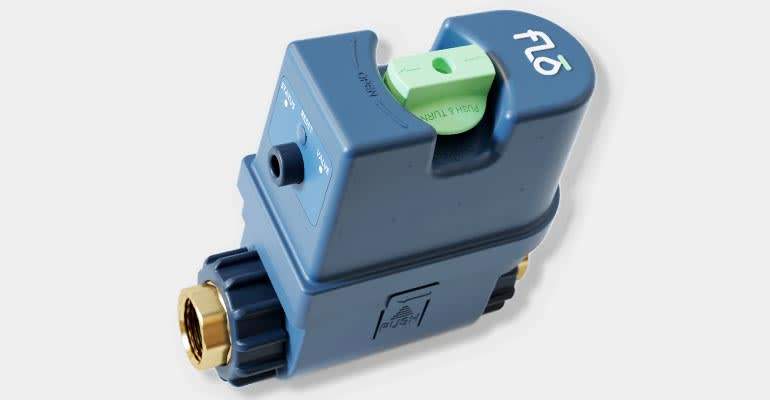 The Flo smart water-shutoff valve helps to stop leaks.