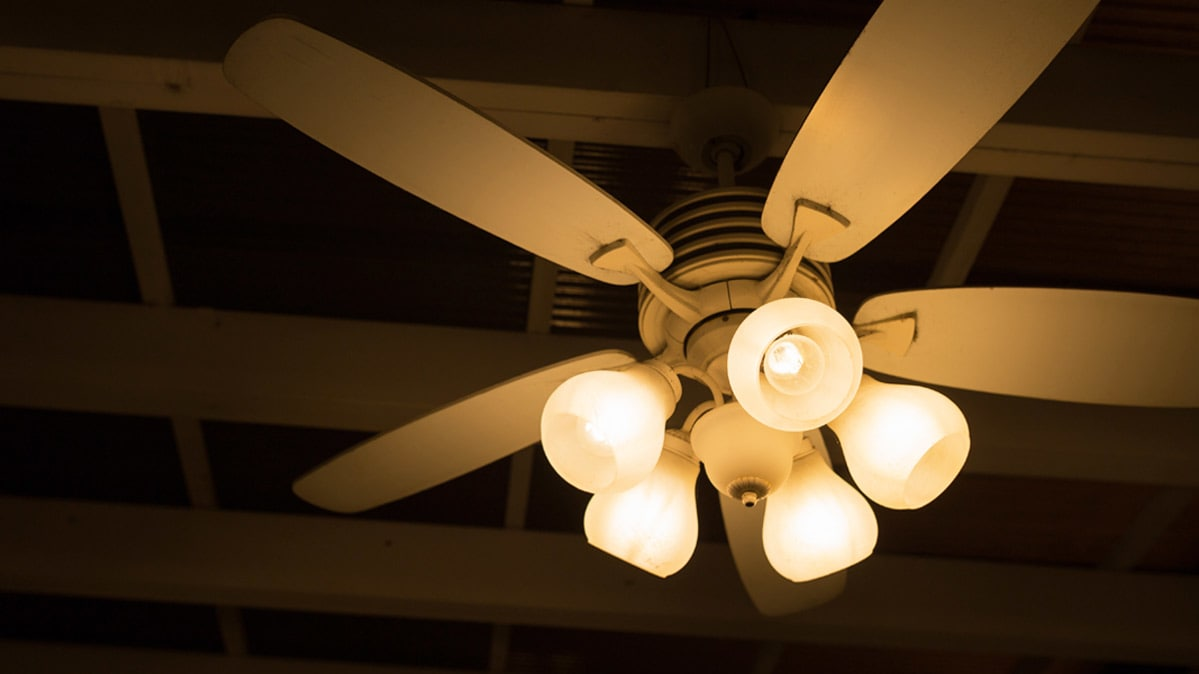 Ceiling Fans Add Comfort And Save Money Consumer Reports Bay Fan Light Cover On Hampton Wiring Unlike Air Conditioners Dont Lower A Rooms Temperature Or Remove Humidity From The But You Can Boost Your Leveland Energy