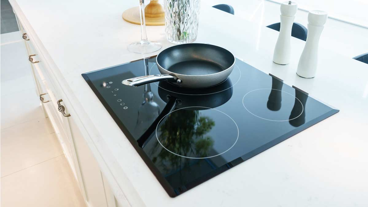 A Pot On An Induction Cooktop