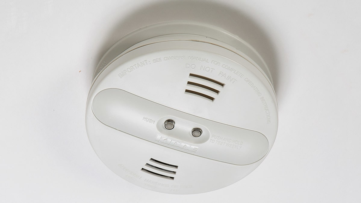Kidde battery operated smoke detector with ionization.