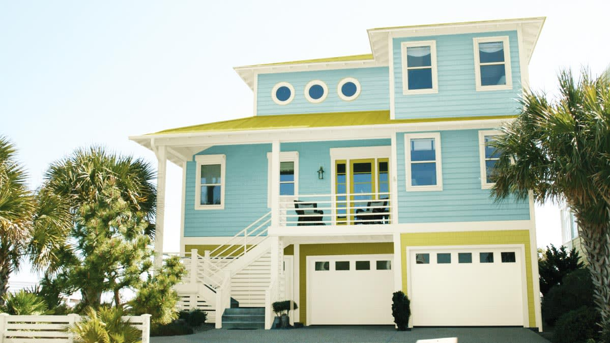 A House Of Pale Blue For Story On Trendy Exterior Paint Colors