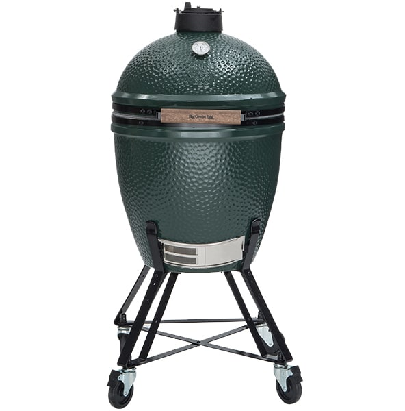 The Big Green Egg is an example of a Kamodo style charcoal grill