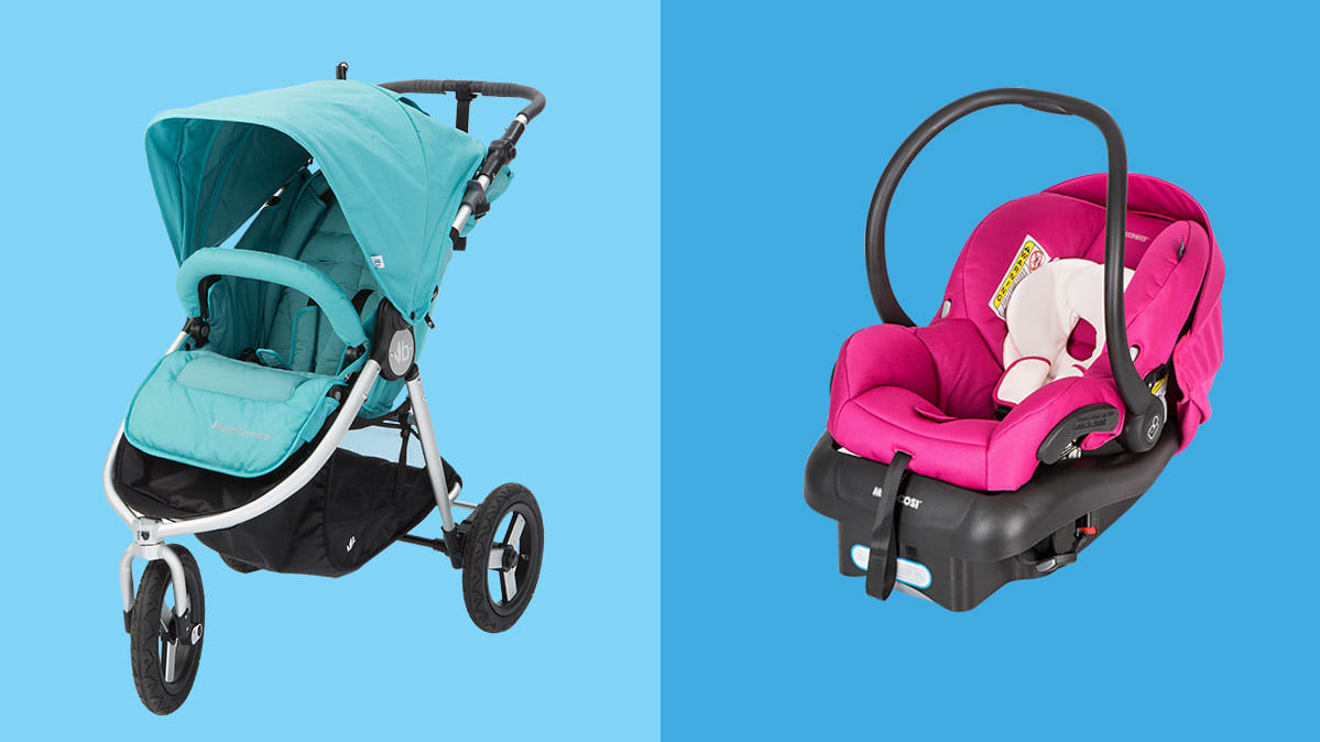 Bumbleride Indie Price stroller and Maxi-Cosi Mico AP car seat
