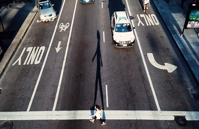 Crosswalk distracted driving