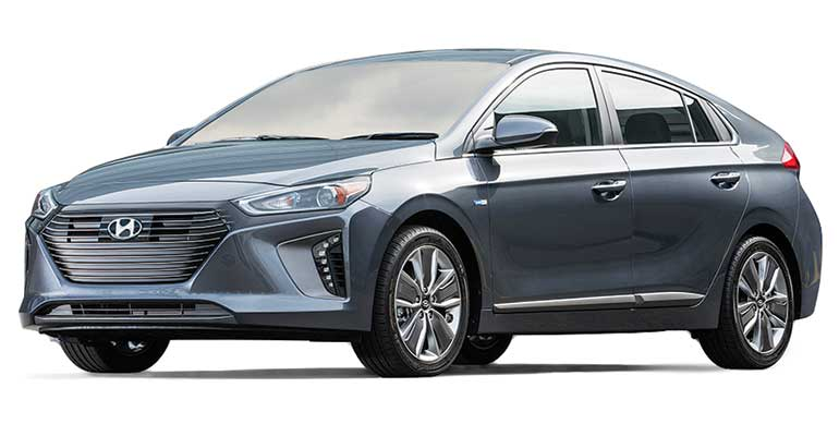 Evoking The Prius Silhouette And Hatchback Configuration Ioniq Hybrid Matches It As A Fuel Sipper With 52 Mpg Overall