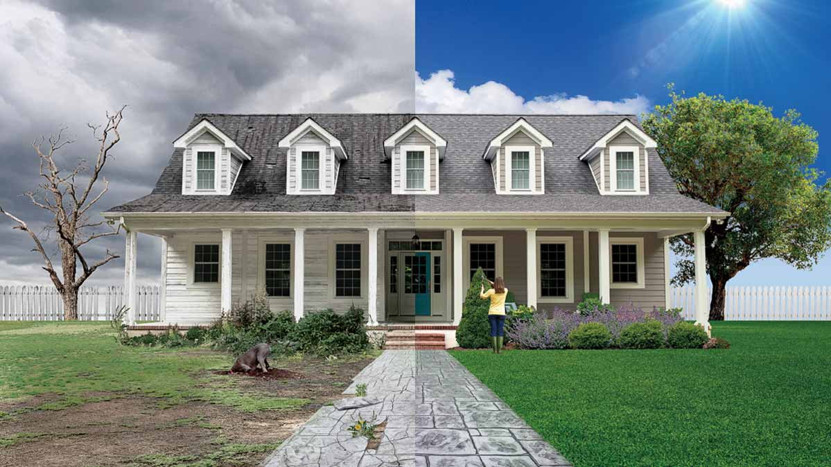 A photo of a home showing how to increase curb appeal