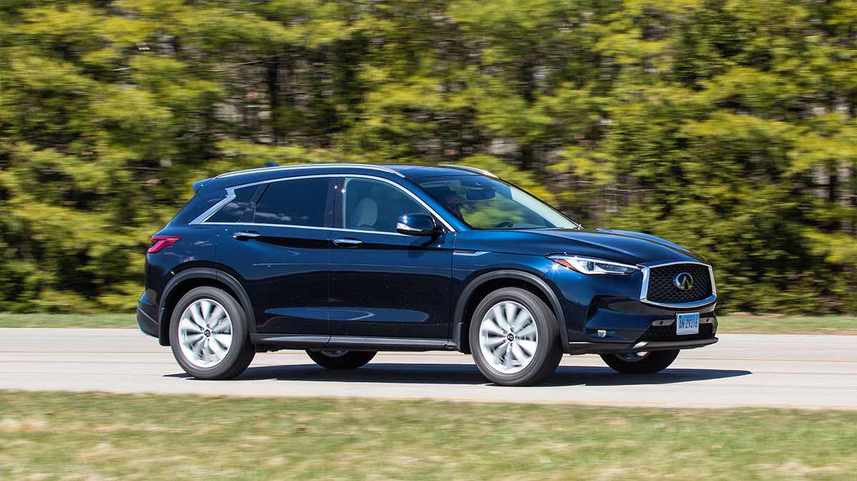 2018 infiniti qx50 review upscale but underwhelming consumer reports. Black Bedroom Furniture Sets. Home Design Ideas