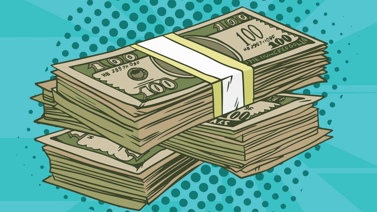 An illustration of money for article on how to save on your cable bill.