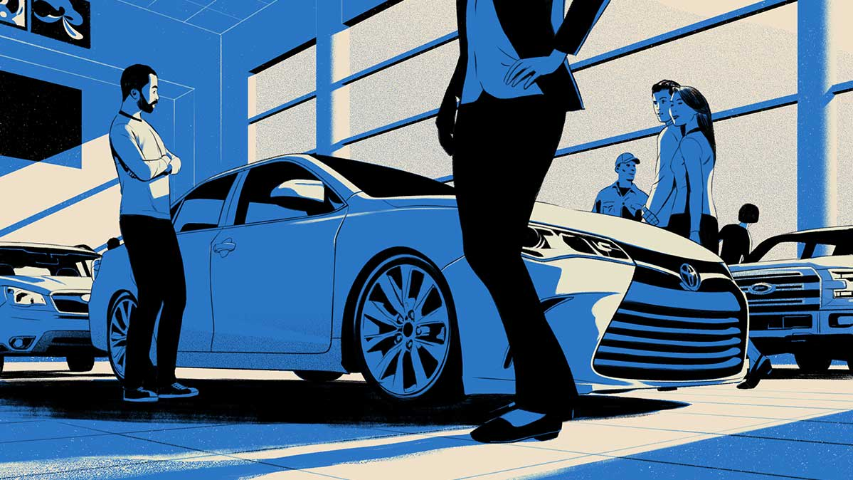 Illustrations shows how to get the most used car for your money.