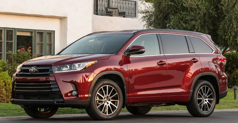 Most reliable cars: Toyota Highlander