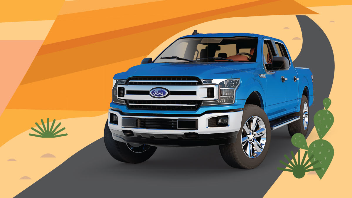 A Ford F-150 pickup truck