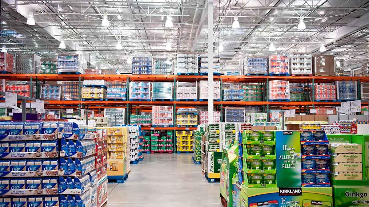 A Costco Warehouse Interior