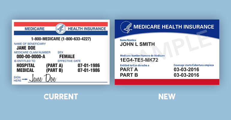 Current and new Medicare cards