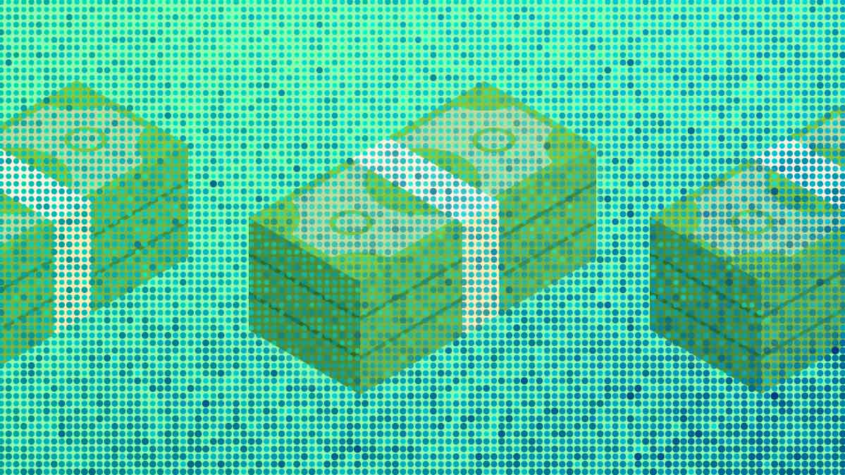 An illustration of stacks of cash