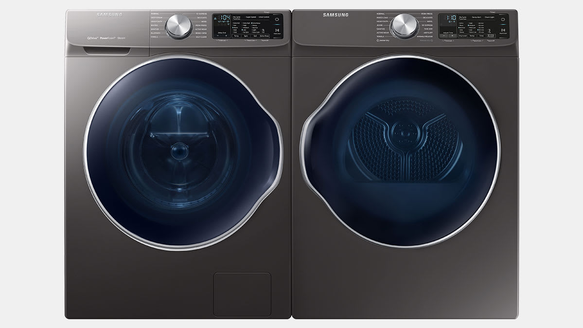 Samsung compact washer and dryer set.