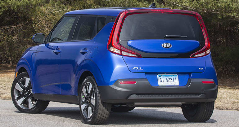 A photo of the rear end of the 2020 Kia Soul