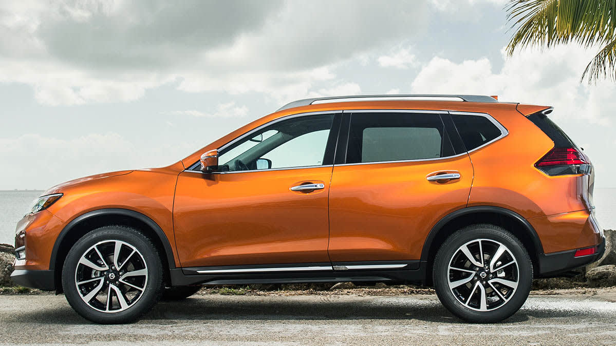 A Nissan Rogue Car Whose Braking Issue Has Prompted Nhtsa Investigation