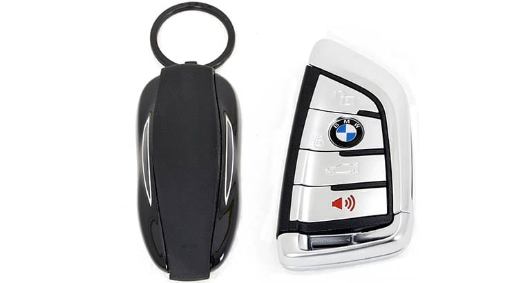 Tesla and BMW key fobs