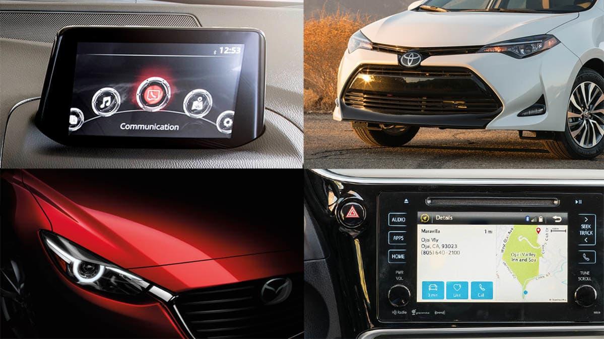 Face Off Mazda3 Vs Toyota Corolla Consumer Reports