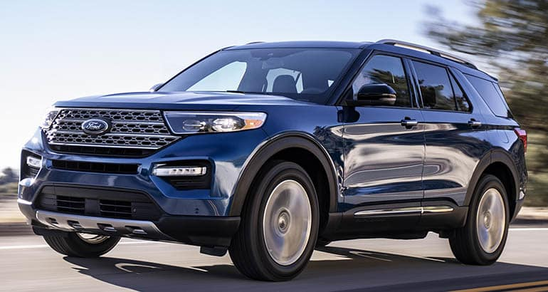 2020 Ford Explorer Front Driving