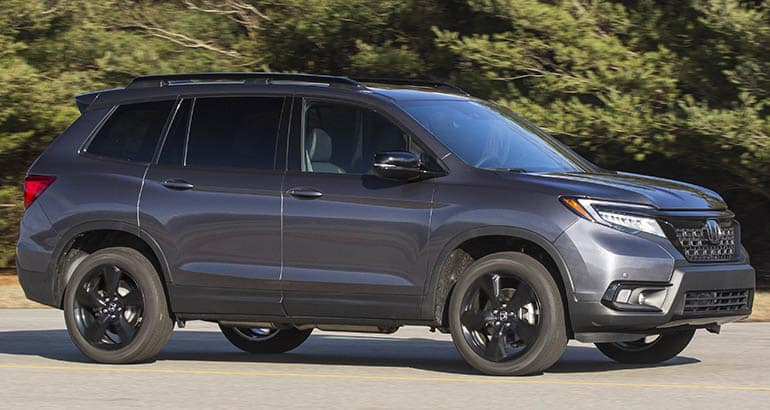 2020 honda passport front driving