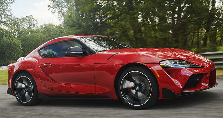 2020 Toyota Supra front driving