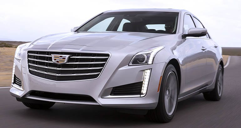 A 2017 Cadillac CTS — part of the GM power steering recall (also known as an EPS recall)