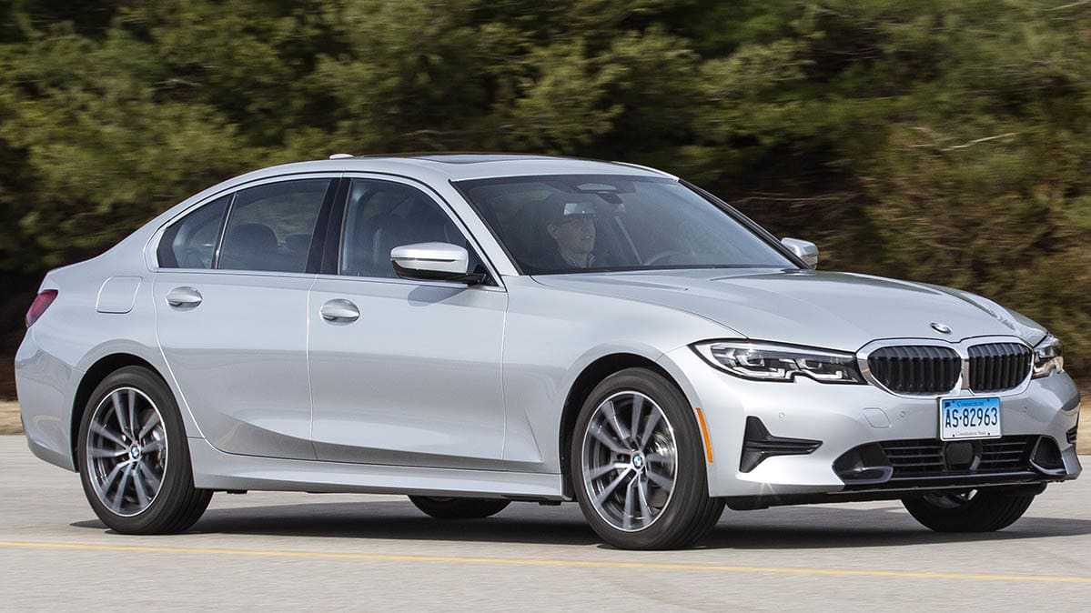 2019 BMW 3 Series front driving
