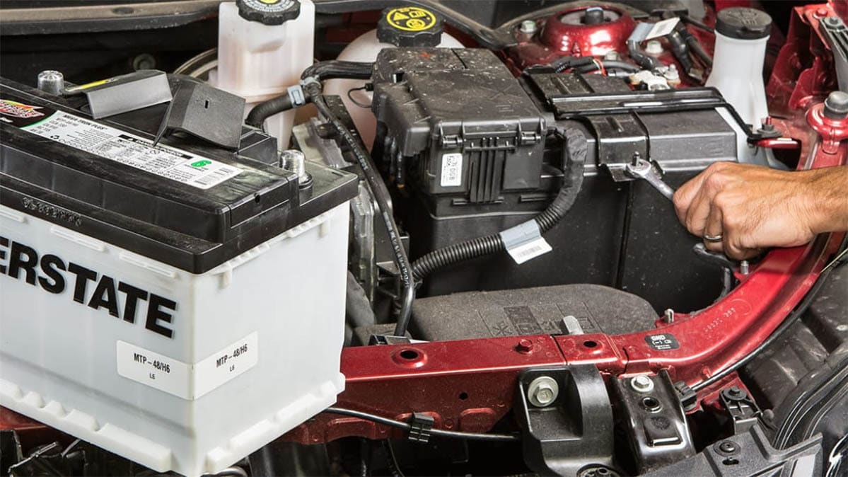 Installing the best car batteries.