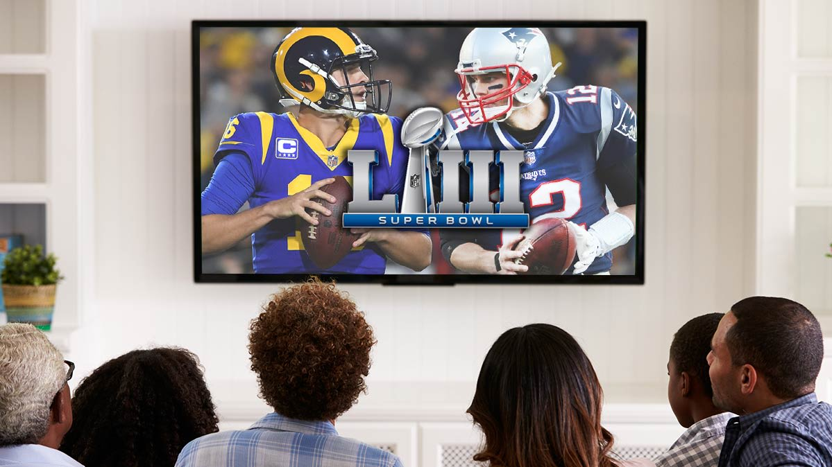 bcfd2ebfa1c Super Bowl TV deals illustrated by fans watching the big game