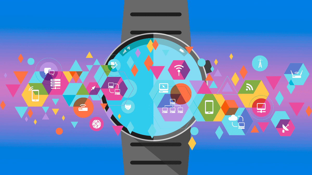 Photo illustration of a smartwatch