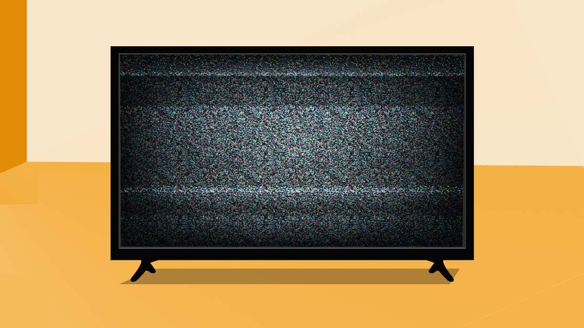 Illustration of a TV with a blank screen