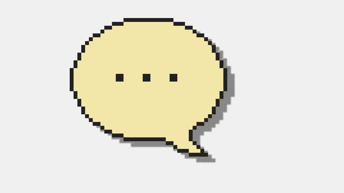 Cartoon image of a speech bubble for an article on how voice computing will change our lives.