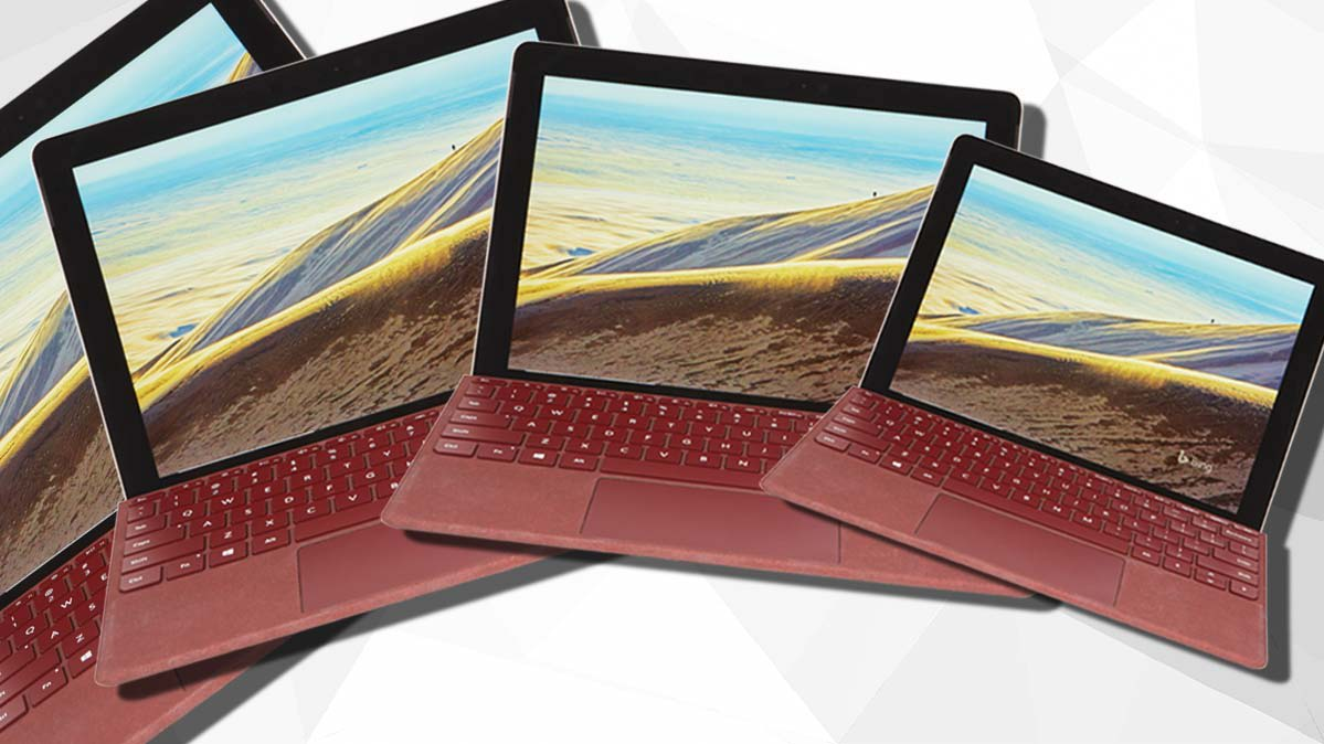 A series of laptops in different sizes