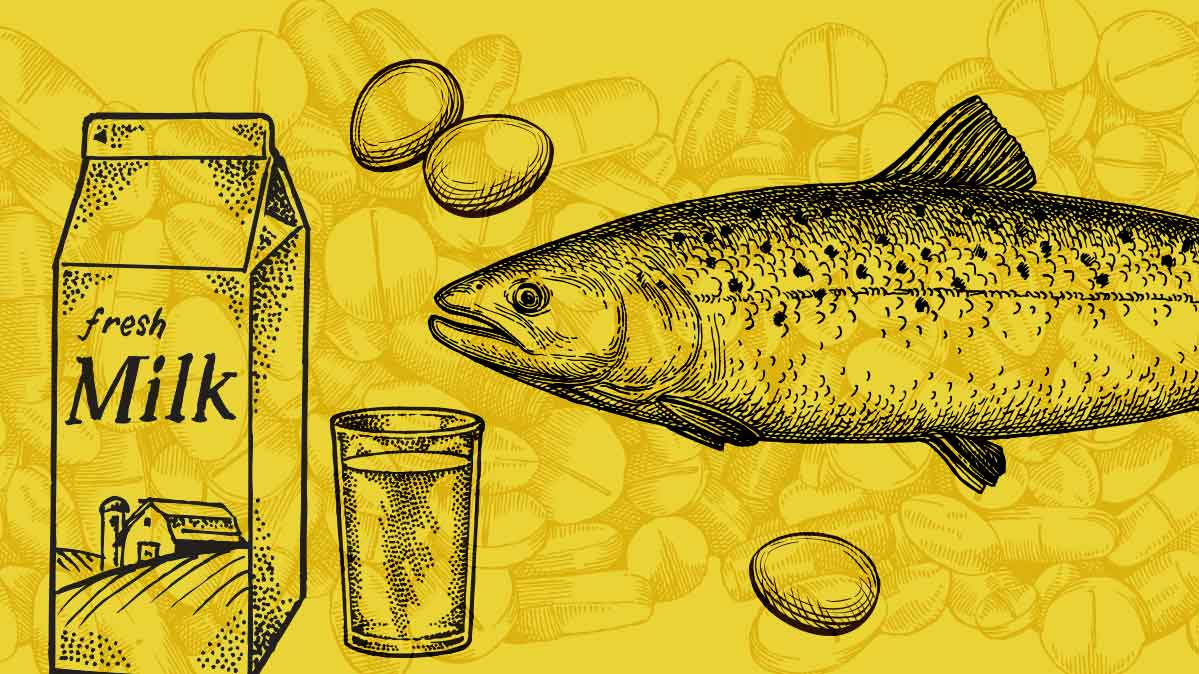 Milk, fish, and eggs are sources of vitamin B12