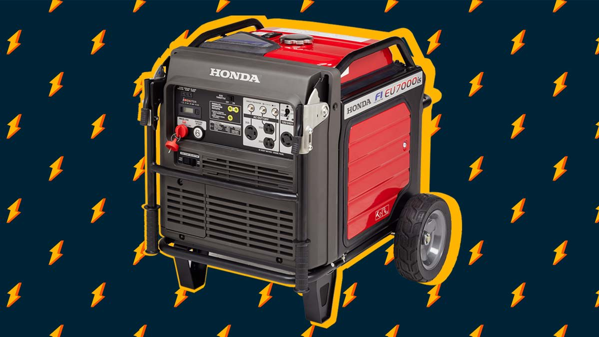 Photo illustration of a Honda inverter generator