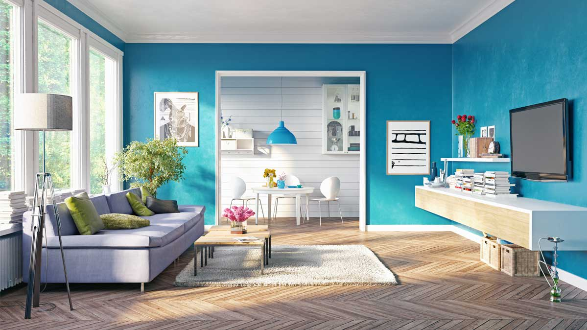 Pick the perfect paint finish for every room consumer for Pareti colorate casa moderna