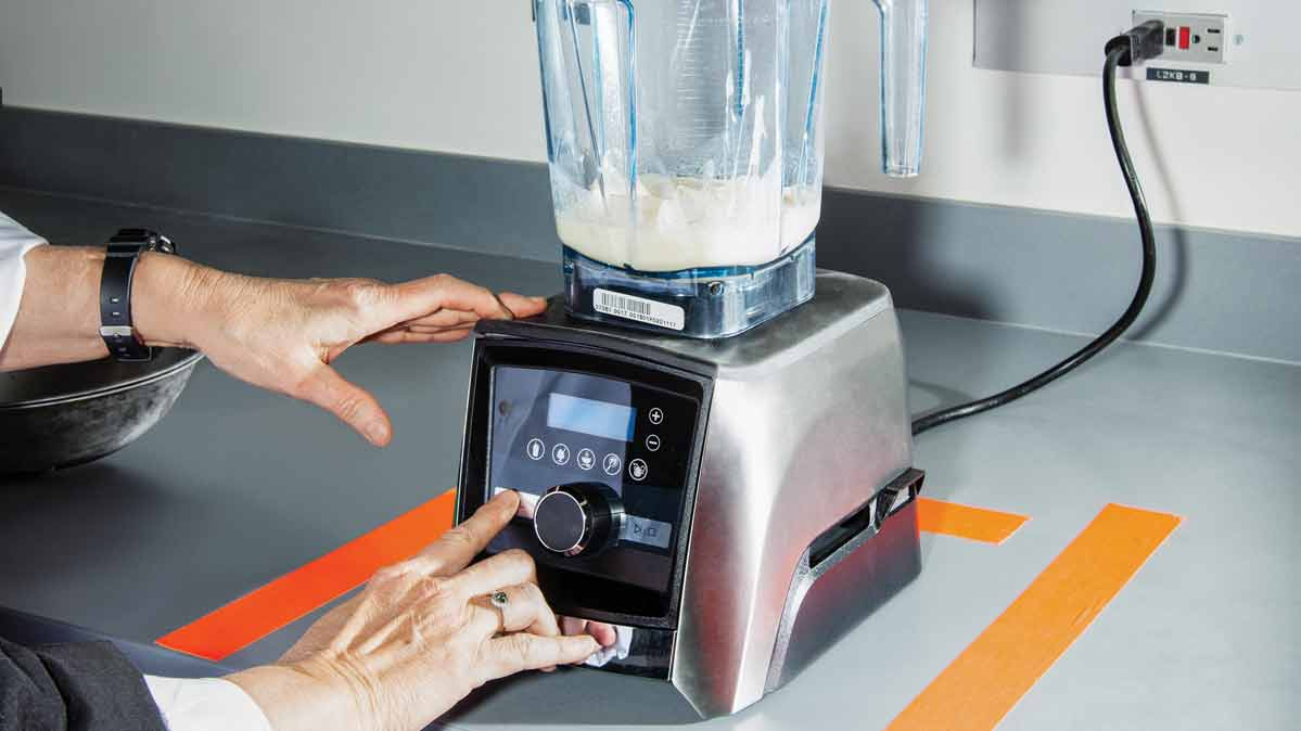 A blender in Consumer Reports' test kitchen.