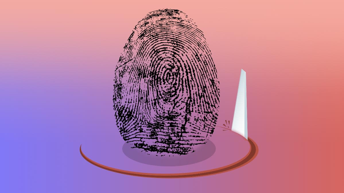 An illustration of a fingerprint